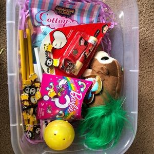 Young teen or young girl easter bin new :)